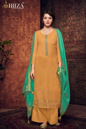 Ibiza Presents Silkoria Pure Pashmina With Jacquard Weaving With Fancy Embroidery Salwar Suit 430