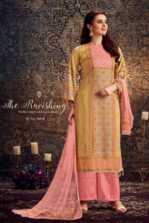 Kesar Presents Gulbagh Pure Pashmina Digital Style Printed Salwar Suits 6609