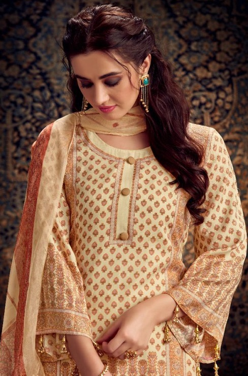 Kesar Presents Gulbagh Pure Pashmina Digital Style Printed Salwar Suits 6603
