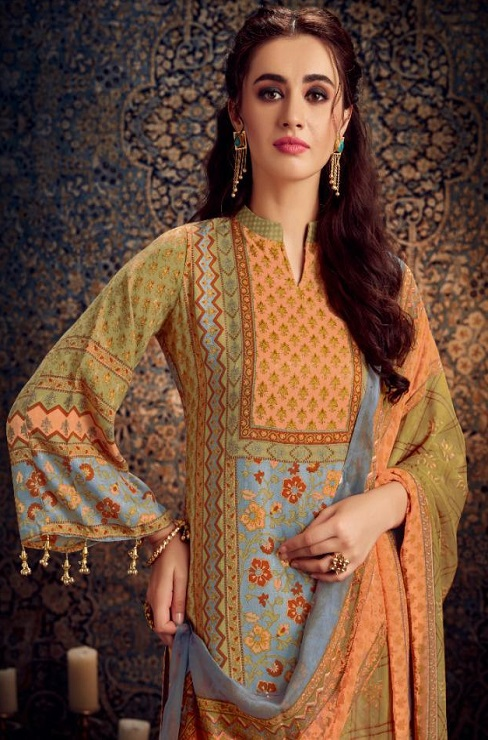 Kesar Presents Gulbagh Pure Pashmina Digital Style Printed Salwar Suits 6606