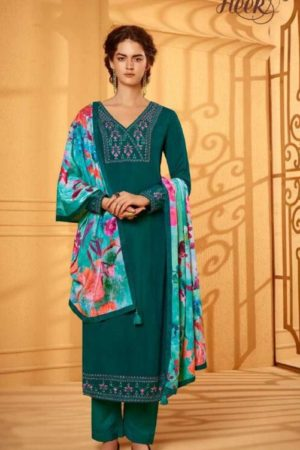 Kimora Presents Heer 59 Velvet Shagun Silk With Embroidery Designer Ladies Suit 9884