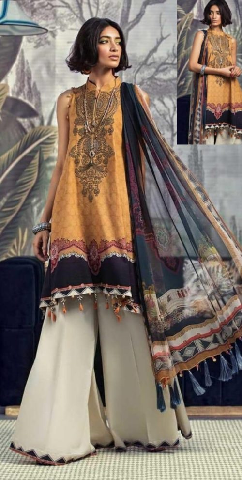 Maria B Presents M Prints Pure Cambric Print Original Pakistani Salwar Suit M-1A