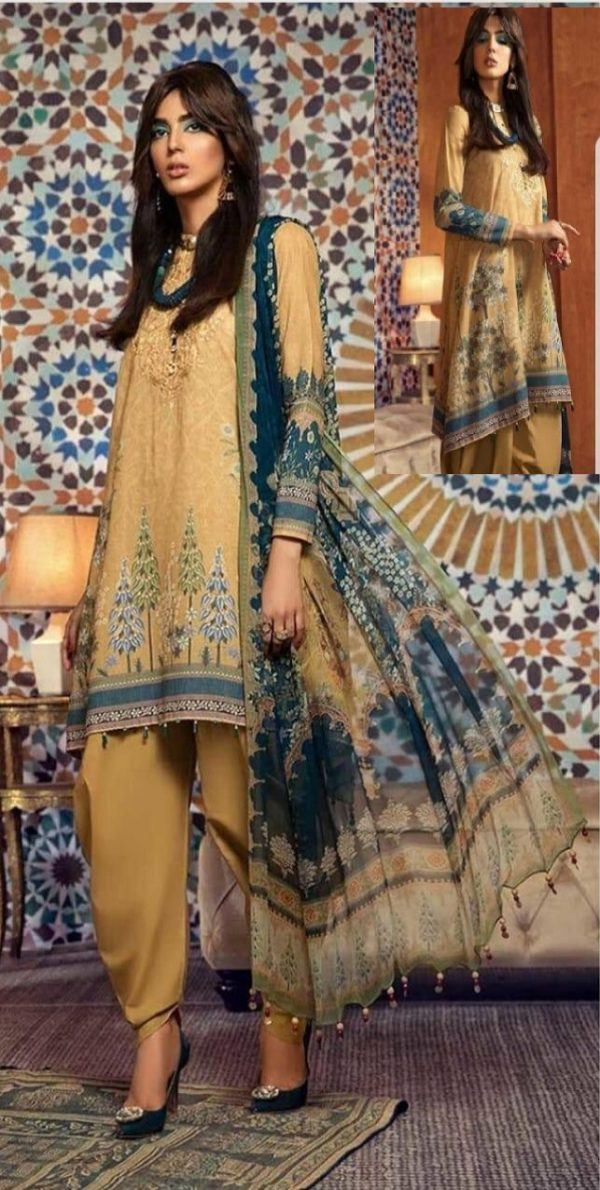 Maria B Presents M Prints Pure Cambric Print Original Pakistani Salwar Suit M-3A