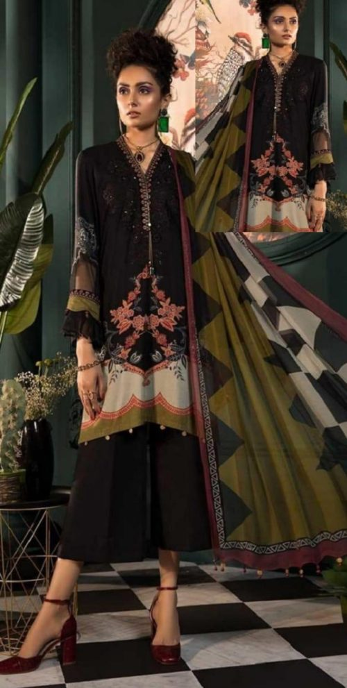 Maria B Presents M Prints Pure Cambric Print Original Pakistani Salwar Suit M-6B