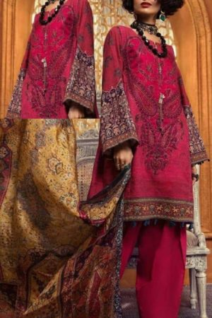 Maria B Presents M Prints Pure Cambric Print Original Pakistani Salwar Suit M-7A