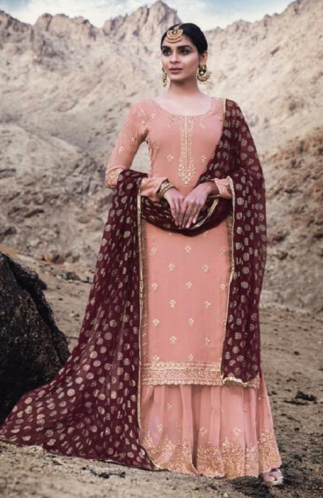 Mohini Fashion Presents Glamour 74 Georgette With Santoon Inner with Work Designer Suit 74004