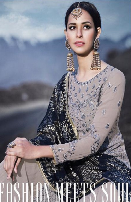 Mohini Fashion Presents Glamour 74 Georgette With Santoon Inner with Work Designer Suits 74002