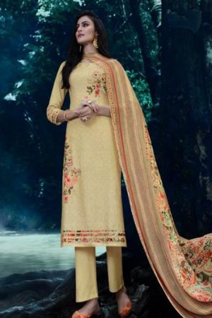 Omtex presents Annya Lawn Cotton Digital Print With Cross Stitch Embroidery And Handwork suit 874