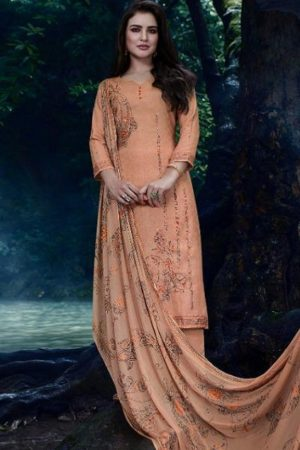 Omtex presents Annya Lawn Cotton Digital Print With Cross Stitch Embroidery And Handwork suit 876
