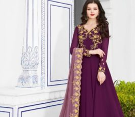 Raazi Presents Almas New Georgette Embroidery with Hand work Designer Partywear Gown 20044