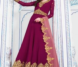 Raazi Presents Almas New Georgette Embroidery with Hand work Designer Partywear Gown 20045