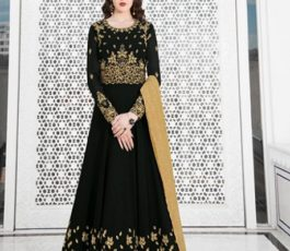 Raazi Presents Almas New Georgette Embroidery with Hand work Designer Partywear Gown 20046