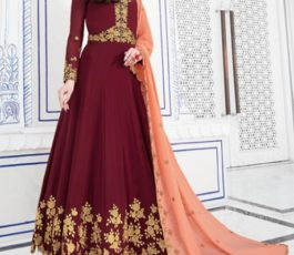 Raazi Presents Almas New Georgette Embroidery with Hand work Designer Partywear Gown 20047