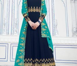 Raazi Presents Almas New Georgette Embroidery with Hand work Designer Partywear Gown 20041