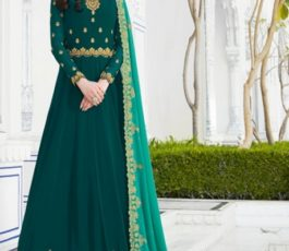 Raazi Presents Almas New Georgette Embroidery with Hand work Designer Partywear Gown 20048