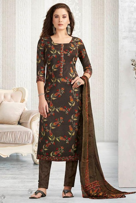 Rakhi Presents Winter Class Pure Pashmina Print Salwar Suit 7368A