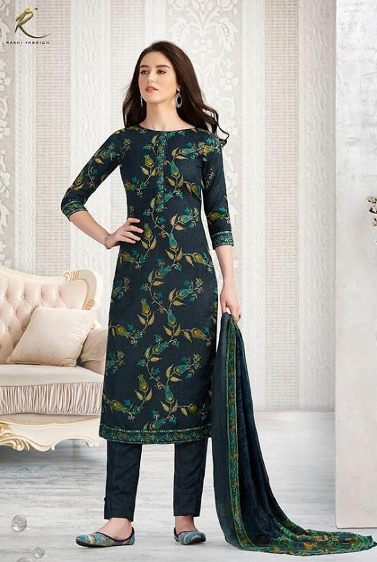 Rakhi Presents Winter Class Pure Pashmina Print Salwar Suit 7368B