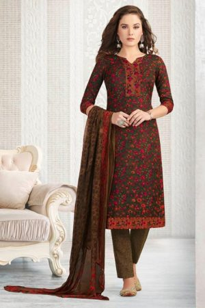 Rakhi Presents Winter Class Pure Pashmina Print Salwar Suit 7369A