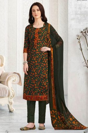 Rakhi Presents Winter Class Pure Pashmina Print Salwar Suit 7369B