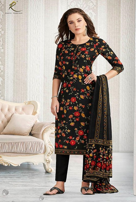 Rakhi Presents Winter Class Pure Pashmina Print Salwar Suit 7370B