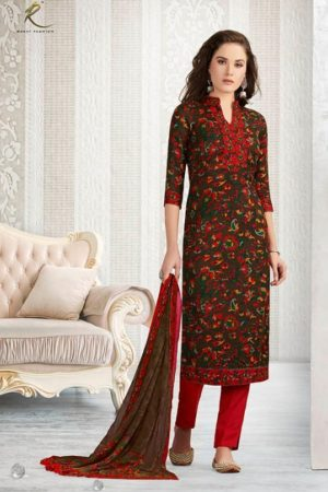 Rakhi Presents Winter Class Pure Pashmina Print Salwar Suit 7371A