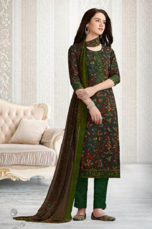 Rakhi Presents Winter Class Pure Pashmina Print Salwar Suit 7371B