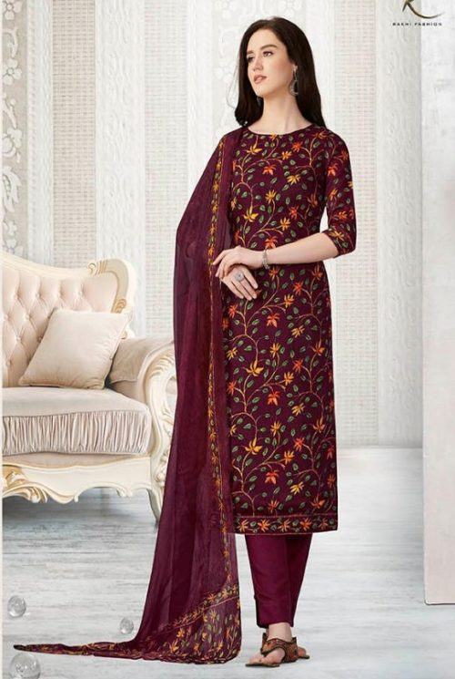 Rakhi Presents Winter Class Pure Pashmina Print Salwar Suit 7372A