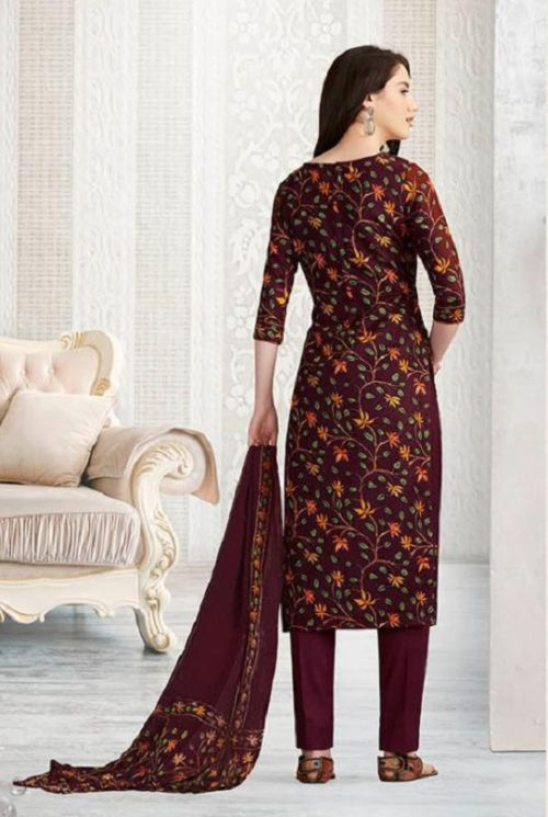 Rakhi Presents Winter Class Pure Pashmina Print Salwar Suits 7372A