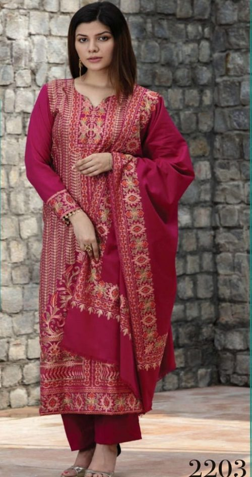 Rivaa Presents Afsana Woolen With Fancy Embroidery Winter Collection Salwar Suit 2203