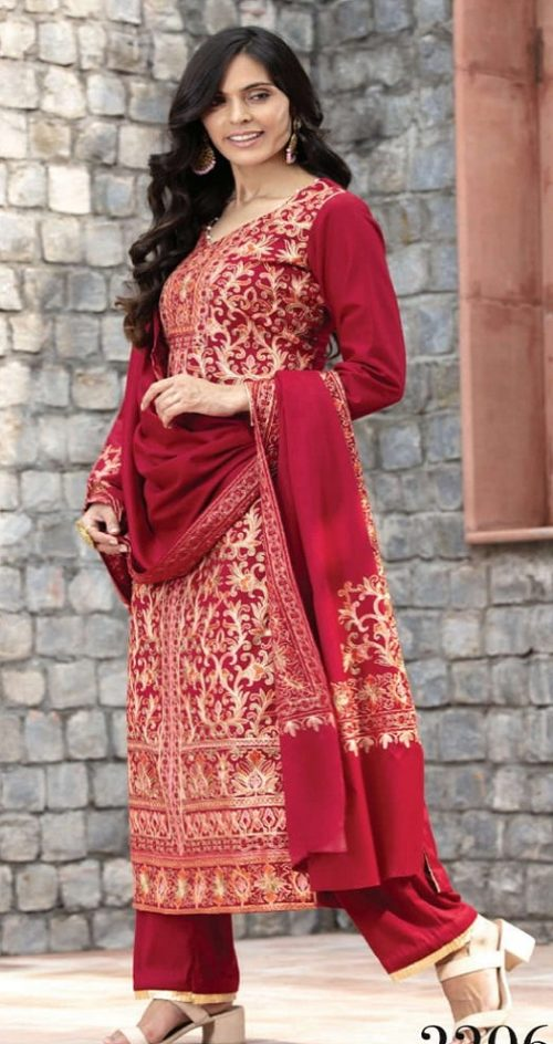 Rivaa Presents Afsana Woolen With Fancy Embroidery Winter Collection Salwar Suit 2206