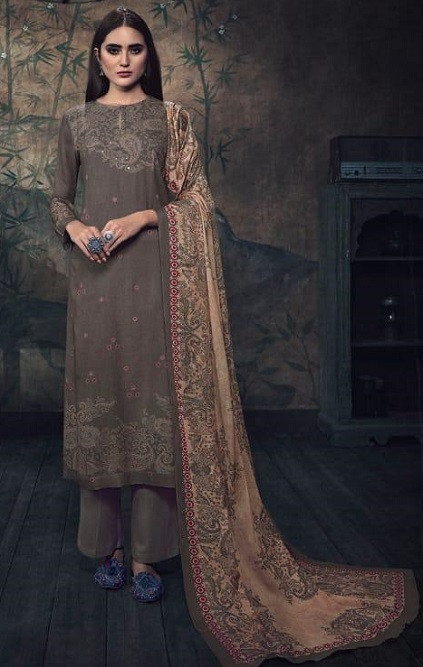 Sahiba Itrana Presents Paisley Pashmina Digital Printed and Handwork Salwar Suit 915