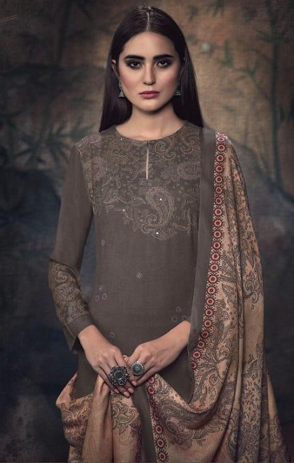 Sahiba Itrana Presents Paisley Pashmina Digital Printed and Handwork Salwar Suits 915