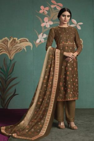Sahiba Presents Ukti Pashmina Digital Printed and Handwork Salwar Suit 809
