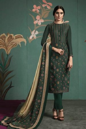 Sahiba Presents Ukti Pashmina Digital Printed and Handwork Salwar Suit 875