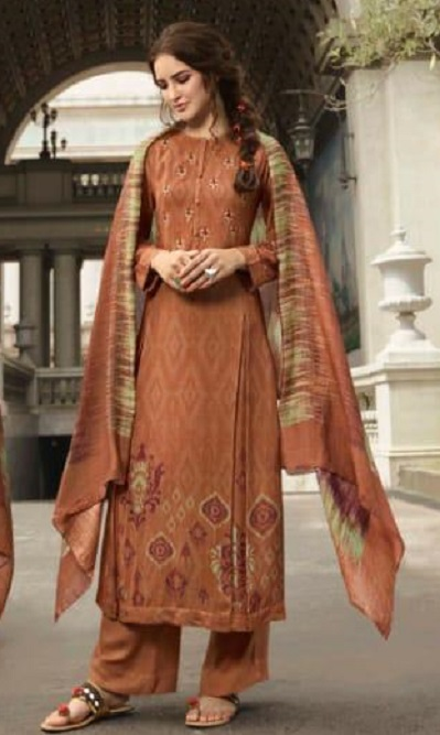 Sahiba Sudriti Presents Maya Winter Collection Pashmina Digital Print With Embroidery Suits 485