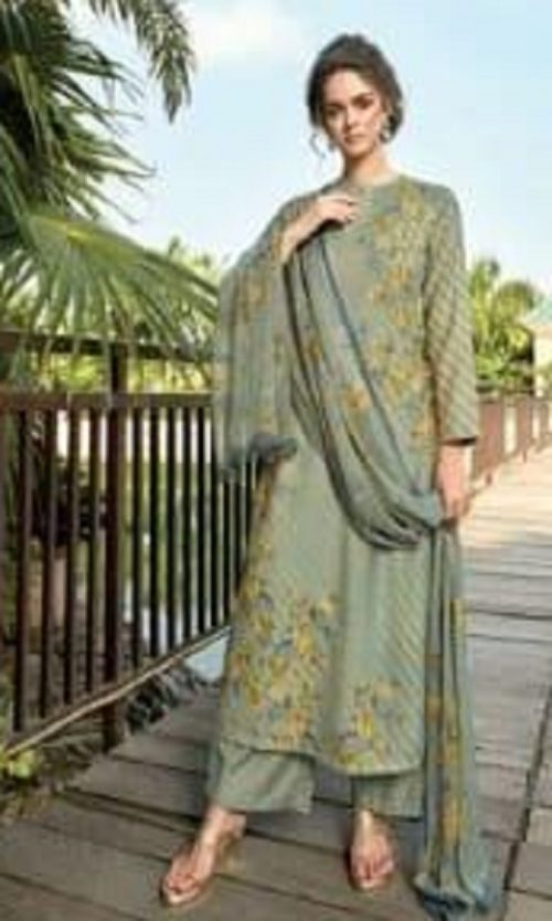 Sahiba Sudriti Presents Riffle Pashmina Digital Print With Handwork Salwar Suit 966
