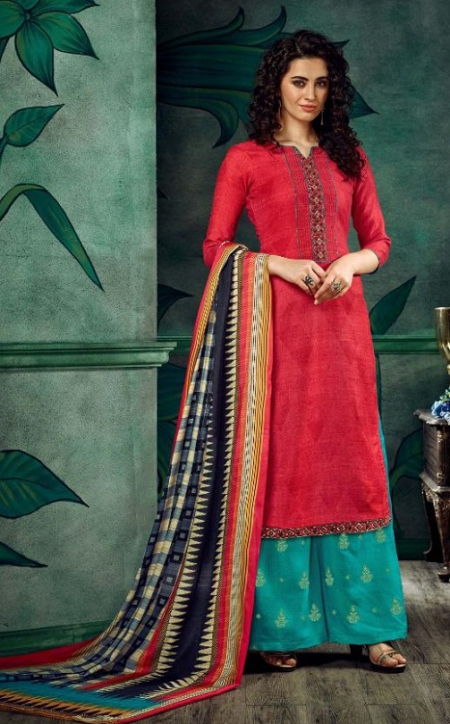 Sargam Prints Presents South Handloom Pure Pashmina Negative With Designer Embroidery Salwar Suit 161-004
