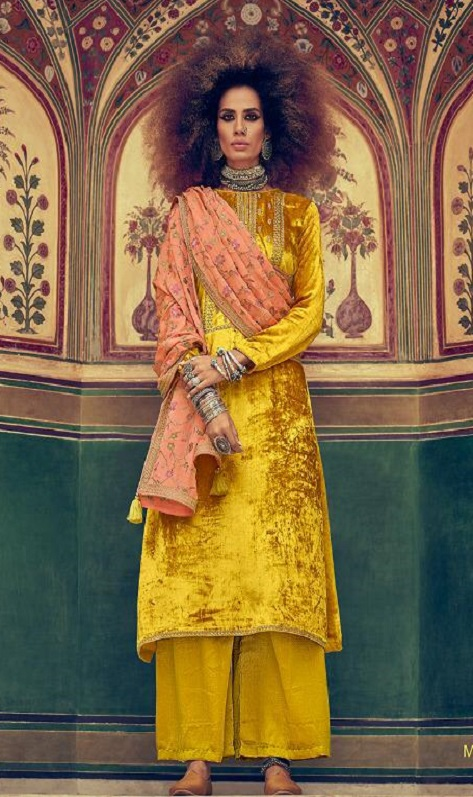 Varsha Fashions Presents Mehreen Pure Velvet With Cording Embroidery Work Salwar Suit MR-12