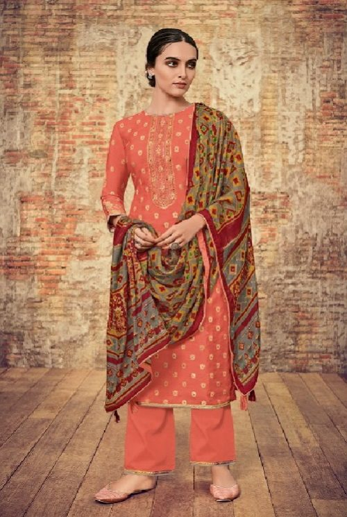 Varsha Fashions Presents Patola 2 Pure Upada Weave With Embroidery Salwar Suit PT-25
