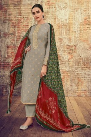 Varsha Fashions Presents Patola 2 Pure Upada Weave With Embroidery Salwar Suit PT-26