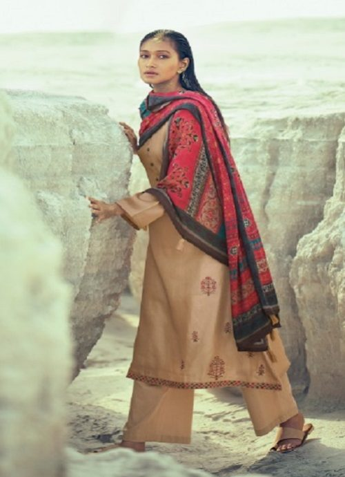 Varsha Present Mehr Khadi With Embroidery Suits mh 22