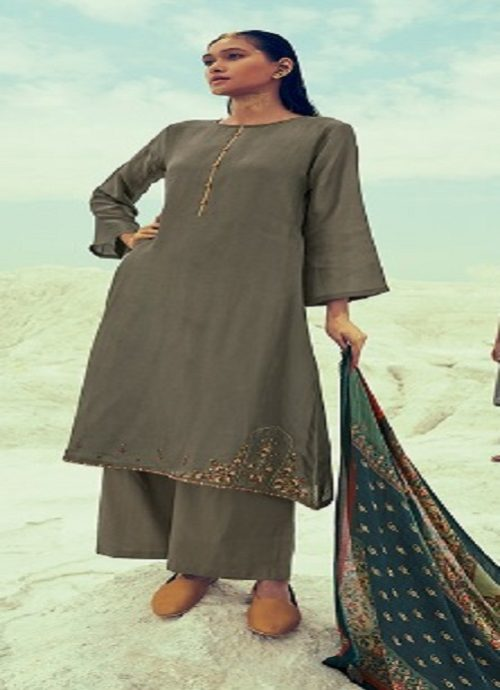 Varsha Present Mehr Khadi With Embroidery Suits mh 24