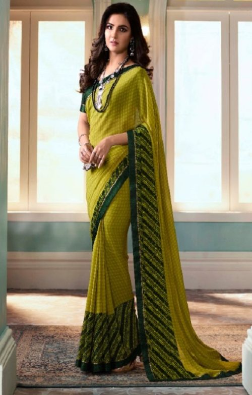 Vinay Fashion Presents Sheesha Starwalk 51 Designer Georgette Saree 22023