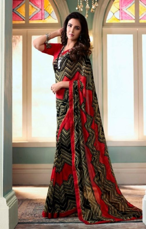 Vinay Fashion Presents Sheesha Starwalk 51 Designer Georgette Saree 22024