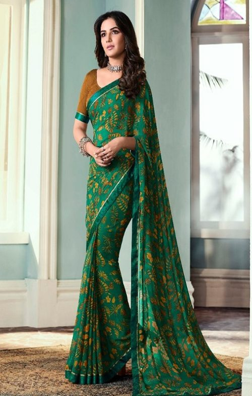 Vinay Fashion Presents Sheesha Starwalk 51 Designer Georgette Saree 22025