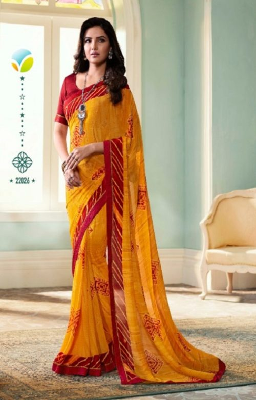 Vinay Fashion Presents Sheesha Starwalk 51 Designer Georgette Saree 22026