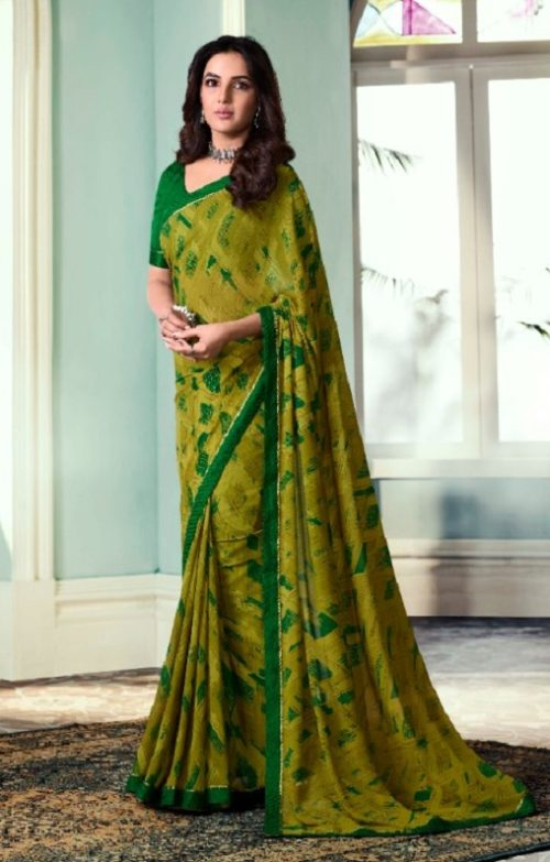 Vinay Fashion Presents Sheesha Starwalk 51 Designer Georgette Saree 22028