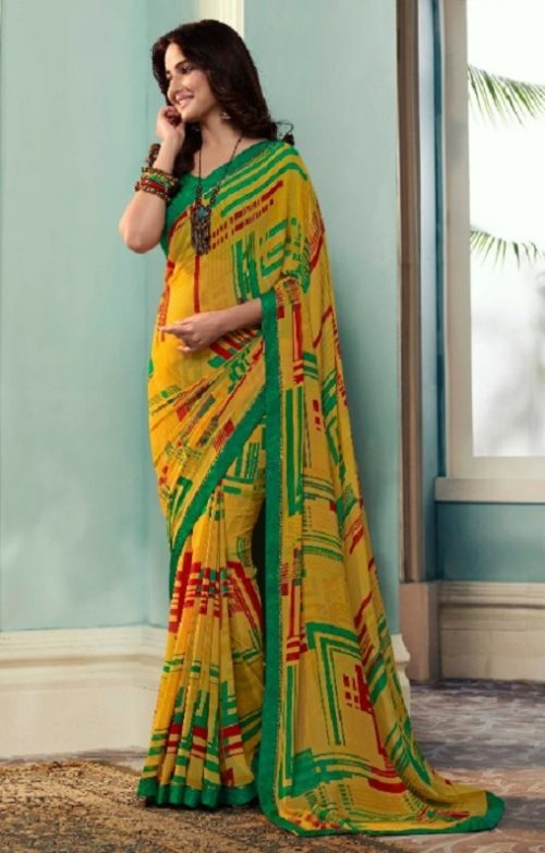 Vinay Fashion Presents Sheesha Starwalk 51 Designer Georgette Saree 22030