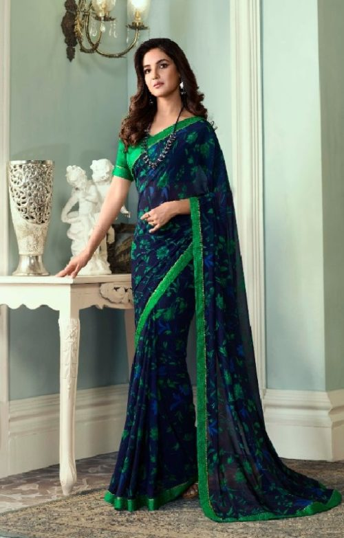 Vinay Fashion Presents Sheesha Starwalk 51 Designer Georgette Sarees 22021