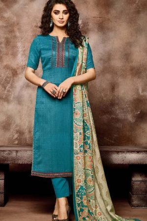 sargam Prints Presents Shireen Pure Pashmina Designer Work With Patti Suit 154 003